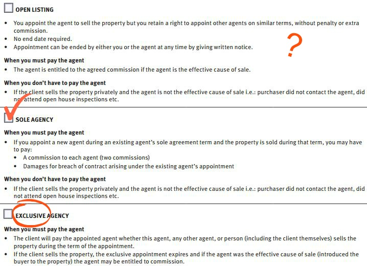 Comparing Agency Agreements  Blocksidge  Ferguson